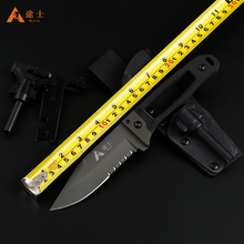 Free Shipping High Quality Hunting Knife Outdoor Survival Camping Knife Tactical Knife with K sheath G10  handle