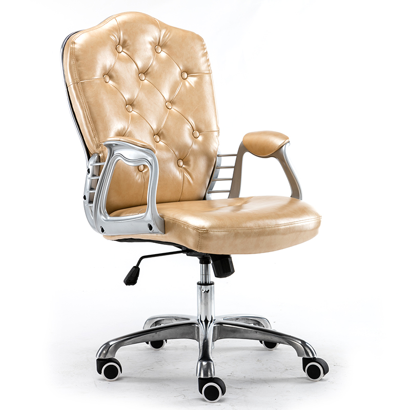 Image 4 - Multi Color Luxury Royal PU Home Computer Chair velvet Fabric Middle Back Manager Chair Modern Ergonomic Office Task Chair C60-in Office Chairs from Furniture