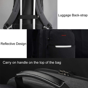 "Image 3 - Tigernu Brand USB Charge Men Backpack Anti theft Mochila 1415""Notebook Backpack Splashproof Male Backpack Women school bag"
