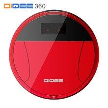 DIQEE 360 Inteligentny Zamiatanie Robota Odkurzacz do Domu bezprzewodowy Pył Gyro nawigacji Planowane Czyste Telefon App sterowania kamery