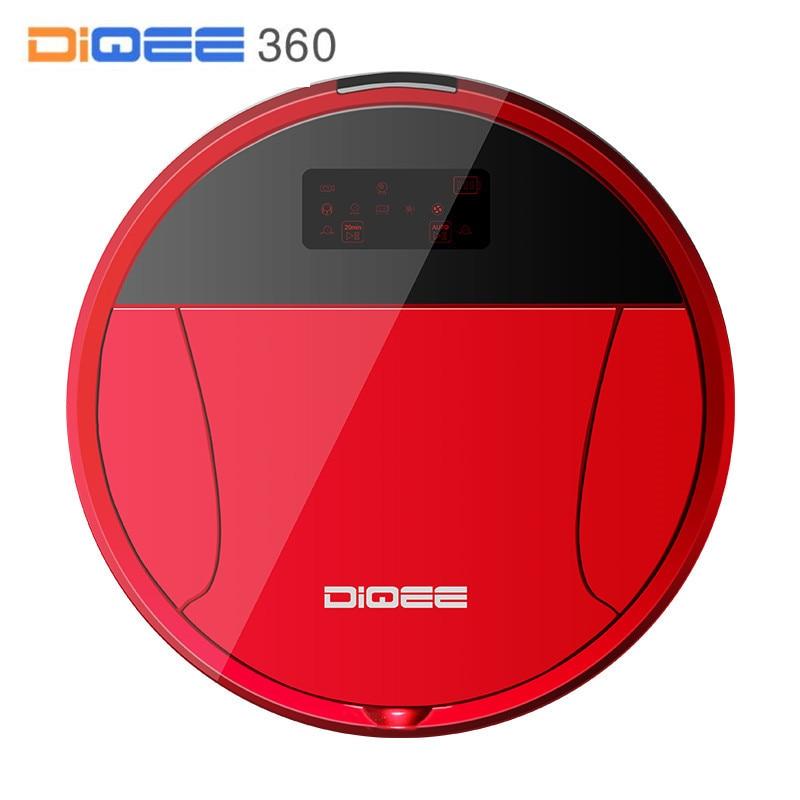 DIQEE 360 Intelligent Robot Aspirateur pour La Maison sans fil Balayer La Poussière Gyro navigation Prévues Propre Téléphone App contrôle caméra