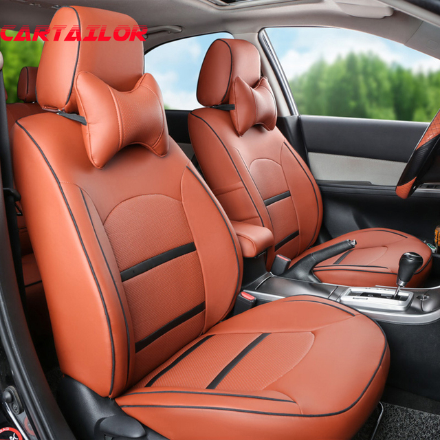 CARTAILOR Quality Seat Covers For Hyundai Coupe Car Interior Accessories PU Leather Cover Set Black