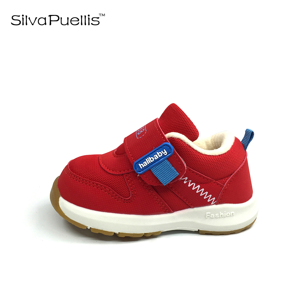 SilvaPuellis Children's Shoes 2018  Boys Winter Shoes Boys And Girls Casual Shoes Hook & Loop Plus Cotton Warm Children's Shoes 2016 winter new soft bottom solid color baby shoes for little boys and girls plus velvet warm baby toddler shoes free shipping