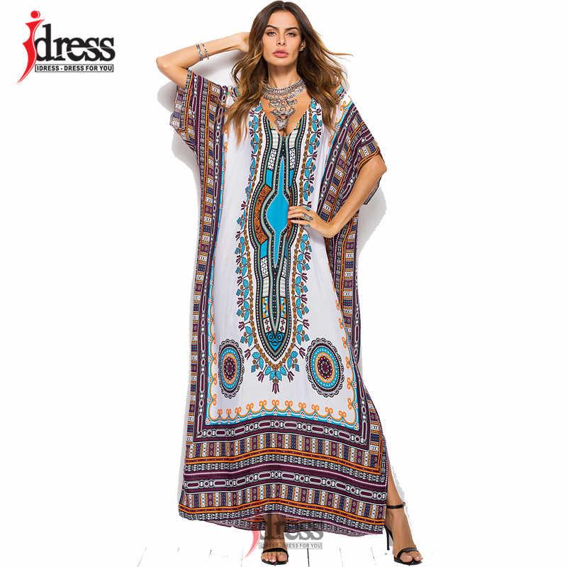 14fee0e72e IDress Online Shopping India Ethnic Dress Moroccan Clothing India Summer  Dress Casual Vestidos Femininos Black Blue