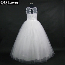 QQ Lover 2018 Cheap Ball Gown Wedding Dresses Custom-made Plus Size Flowers Bridal Dress Free Shipping Vestido De Noiva