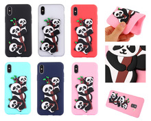 hot deal buy 3d lovely panda case for iphone x cover soft silicone protect cover for iphone 8 case for iphone 8 plus 8+ phone case cover