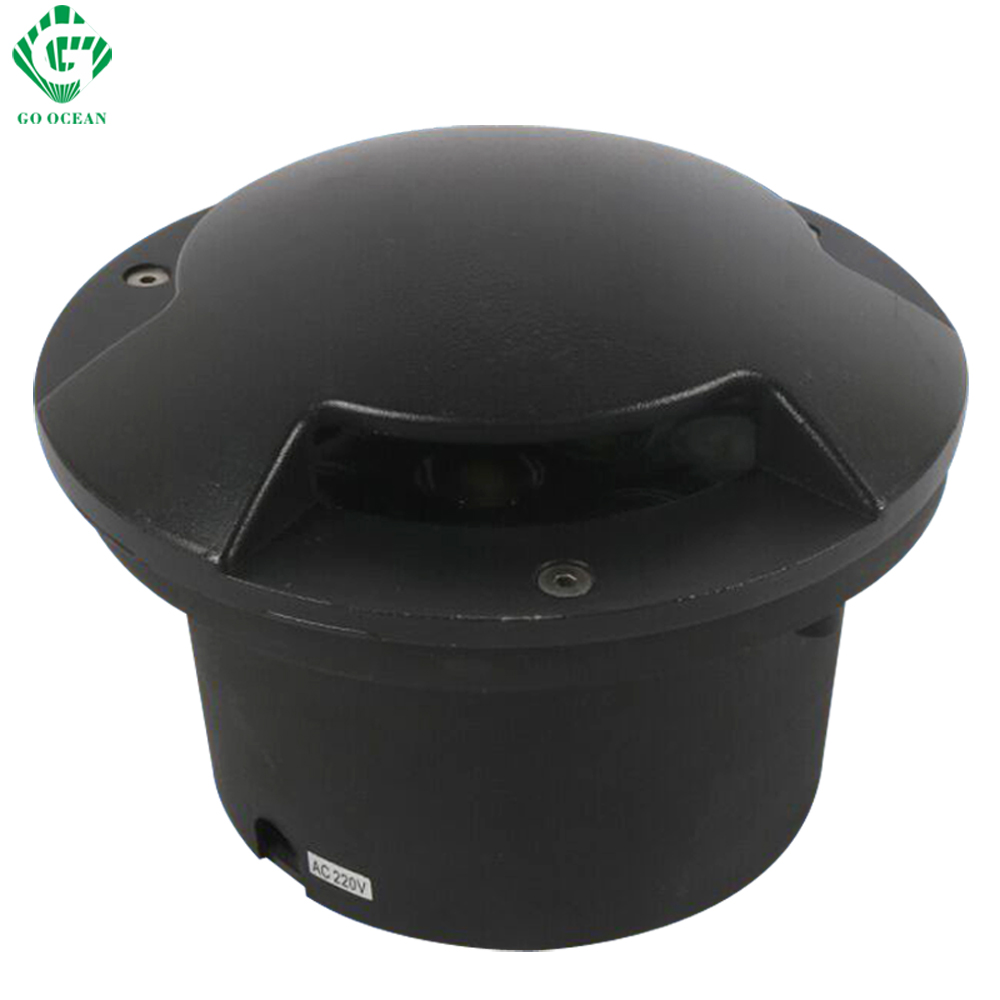 все цены на LED Underground Lamps Waterproof Outdoor 9W Recessed Floor Light Ground Deck buried garden Lamp Inground Yard Sidewalk Lighting
