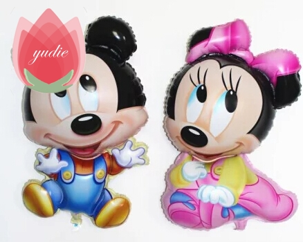 Toys & Hobbies Amiable Giant Mickey Minnie Mouse Balloon Cartoon Foil Balloon Kids Birthday Party Decorations Classic Toys Gift Cartoon Hat
