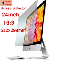 24(16:9) Wide Screen 532x299mm size Desktop computer Anti Blue ray Eye protection film screen film Bule reductio
