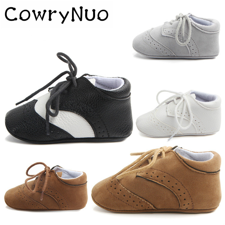 British Style Baby Toddler Shoes Leather Baby First Walkers