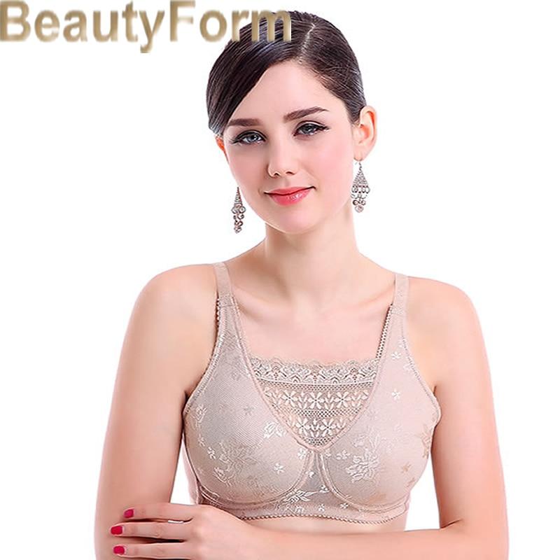8503 Mastectomy Bra Comfort Pocket Bra for Silicone Breast Forms Artificial Breast Cover Brassiere Underwear