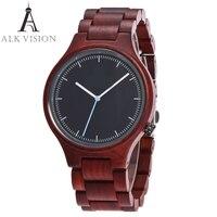 READER Unisex Fashion Style Watch Top Luxury Brand Wooden Design Quartz Mechanism Watches Olive Wood High