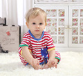2014 New Retail  Baby Summer Romper Clothing Sets Newborn Striped Kids Rompers Baby Boy Girl Wear 3-18M 2 color Free Shipping