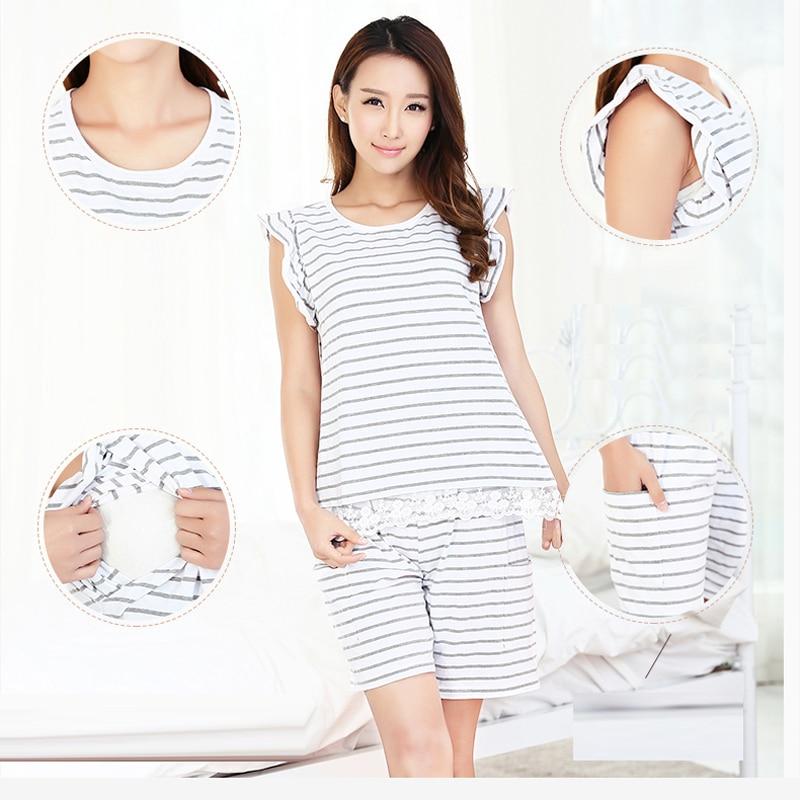 MamaLove maternity clothes maternity sleepwear cotton ...