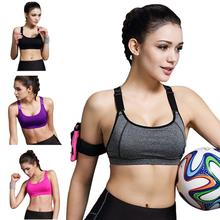 Hot Selling 2017 New women Soft Top Sports Vest Gym Fitness Sports Bra popular Tank Tops Stretch Sports Bra Sportswear