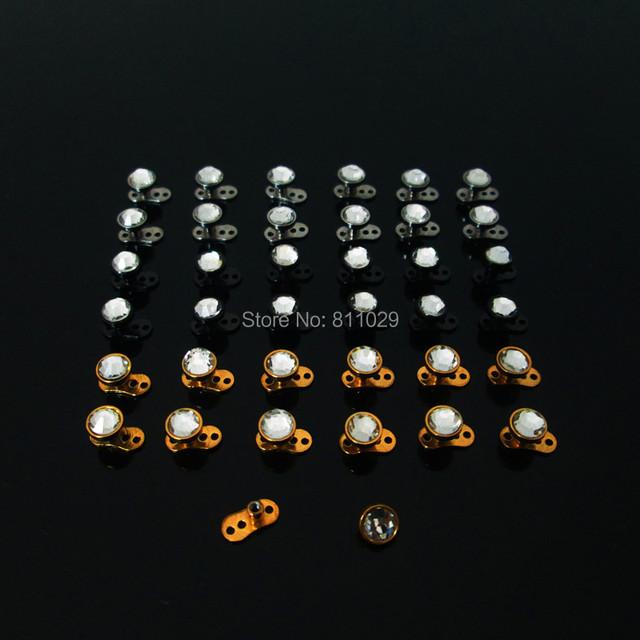 16G Crystal Smart Micro Dermal Anchors