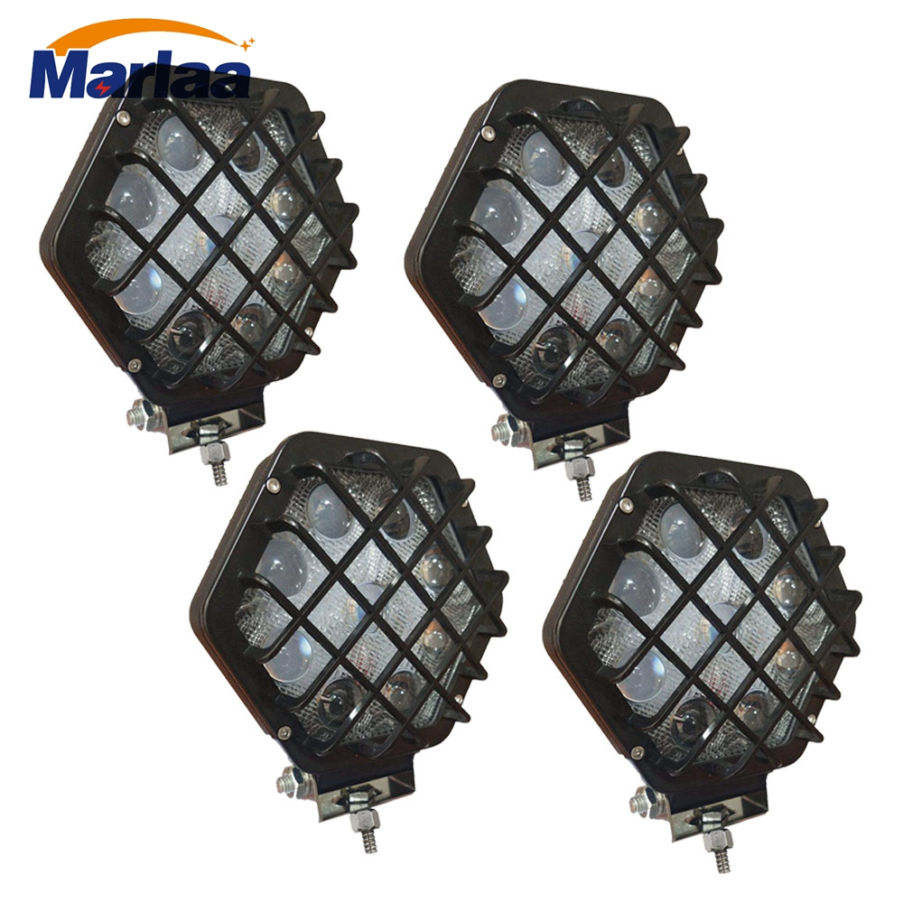 4x 5 27W 5D LED Work Light 12V 24V off road 4X4 car Trucks ATV 4WD Tractor led offroad lights Spot Driving Lamp image
