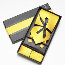 купить solid neck tie set neck ties cuff links cufflinks hanky Handkerchiefs по цене 178.02 рублей