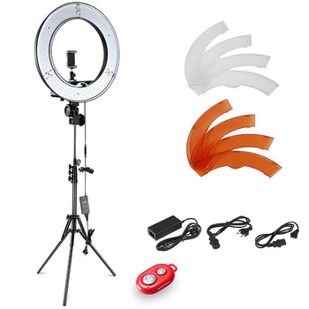 Neewer Camera Photo Video Lightning Kit:18 Inches/48 Centimeters Outer 55W 5500K Dimmable LED Ring Light+Light Stand+Bluetooth