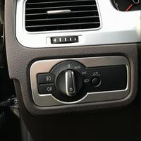 For VW Volkswagen 2011 2018 Touareg Car Styling Car Headlights Lamp Switch Cover Stainless Steel Decorative