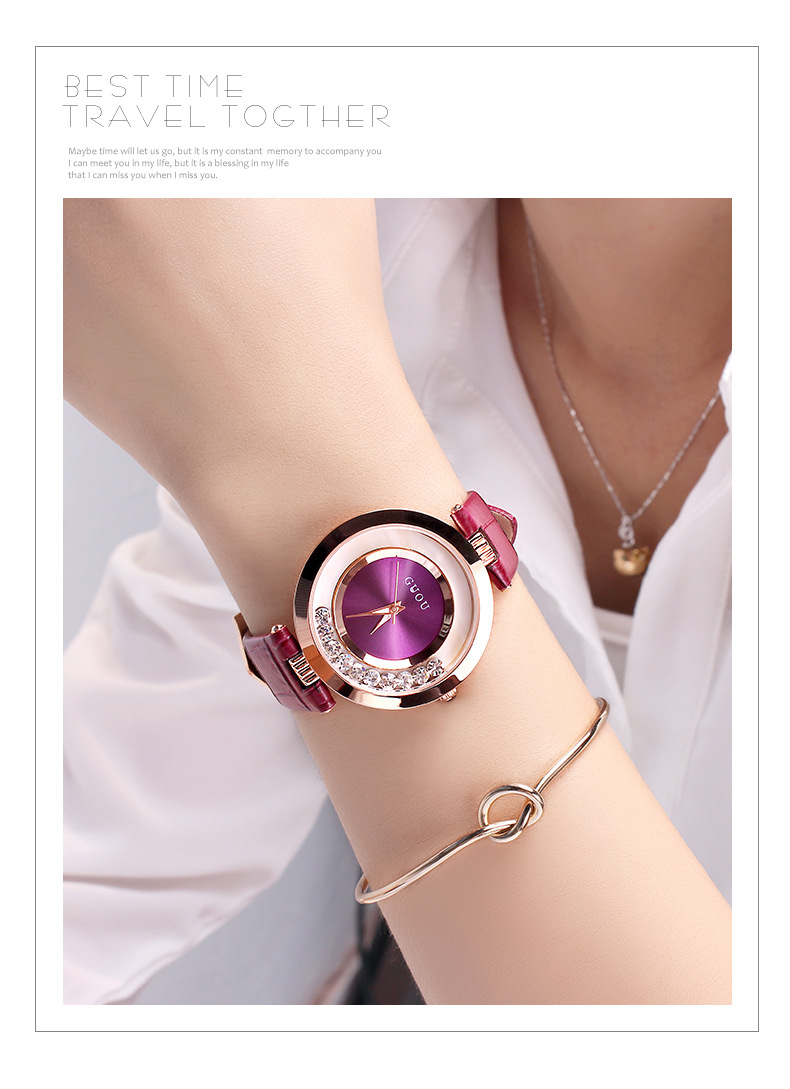 2018 Fashion Hot Sales Women Rolling Drill Watch Luxury Quicksand Gift Dress Watch Genuine Leather Clock Rhinestone Wristwatches fashion quicksand artificial diamond women watch