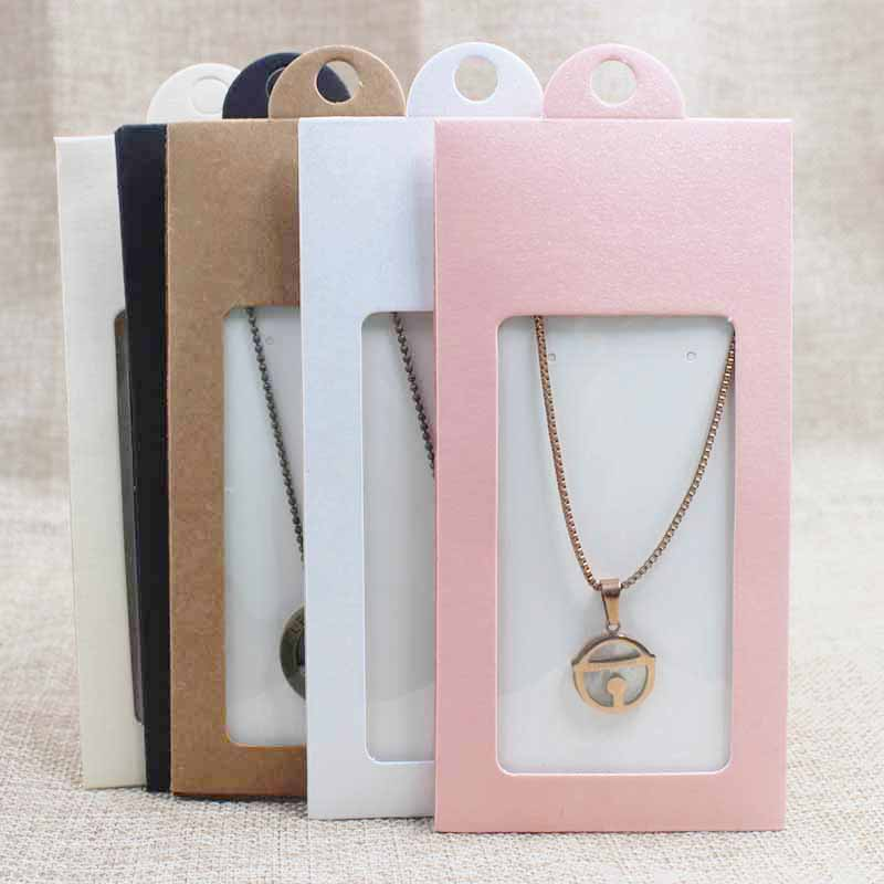 30PCS Multi Color  Jewelry Package& Display Window  Box Gift Box With Hanger Necklace /earring Jewelry Packing Window Box