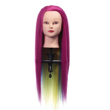 26inch Hair Styling Mannequin Head Colorful Hair Hairstyle Training Hairdressing Doll Heads Female Mannequins 40% human hair mannequin heads hairdressing training practice head hair styling mannequins doll heads