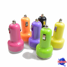 Mini 5V 3.1A promotional USB car charger with 2 USB ports Colorful Portable Travel Dual High-Speed Car Charger Auto Adapter