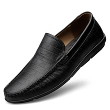 Men Loafers Casual Shoes Fashion Genuine Leather Breathable Slip On Driving Shoes 2019 New Men Moccasins Hollow Out Flats Shoes недорого