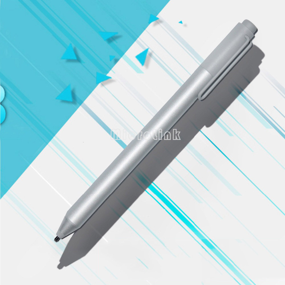 New Stylus Pen for Microsoft Surface Pro 3 Pro 4 Silver Blutooth Capacitive Ballpoint