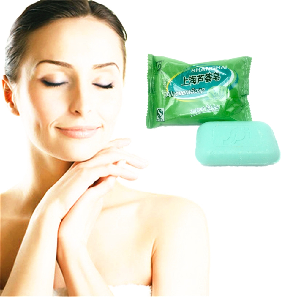 Hot Sale Skin Care Acne Treatment Face Care Brighten The Skin Acne Scars Whitening Moisturizing ALOEVERA Soap 85g