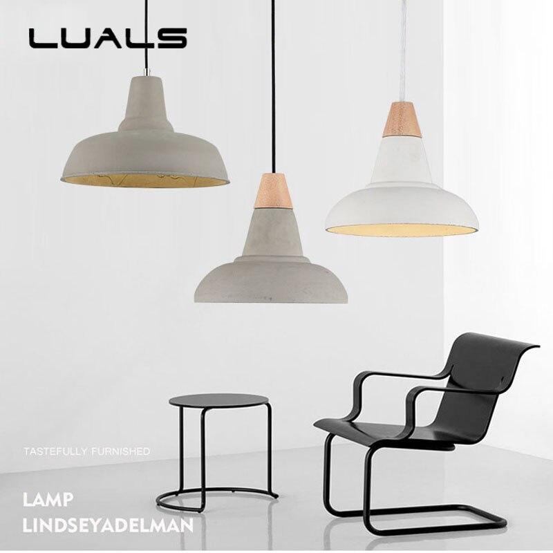 Nordic Concrete Retro Hanging Lamp For Cafe Bars Creative Industrial Edison Pendant Lighting Restaurant Deco Art Pendant Light