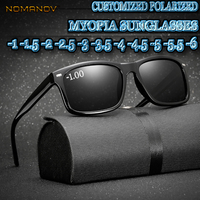 Custom Made Myopia Minus Prescription Polarized Lens Black Leopard FRAME Classic Simple Frame Polarized Sunglasses 1 TO 6