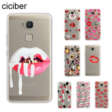 ciciber Lipstick Make Up Sexy Coque For BQ Aquaris C U2 U X5 V VS X2 X Lite Pro Plus E5 E4.5 M4.5 M5 M5.5 Phone Cases TPU Fundas(China)