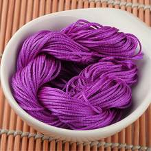 20M Shamballa Beads Bracelet Thread 1mm Polyester Cord Chinese Knot Macrame Rattail Cord For DIY Fashion Jewelry Findings(China)