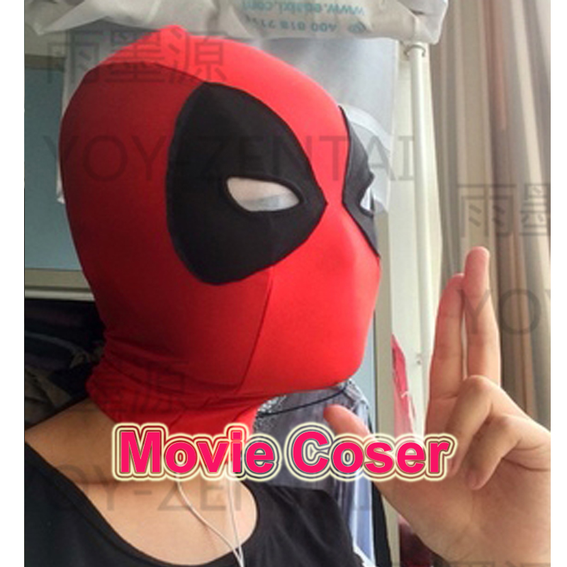 YOY-ZENTAI  High Quality Super Hero Deadpool Adult Cosplay Spandex Mask Movie Cosplay Mask