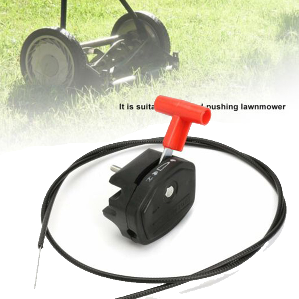 Universal 65 inch Throttle Cable Switch Lever Control Handle Kit Garden Lawnmower Switches Tool Parts