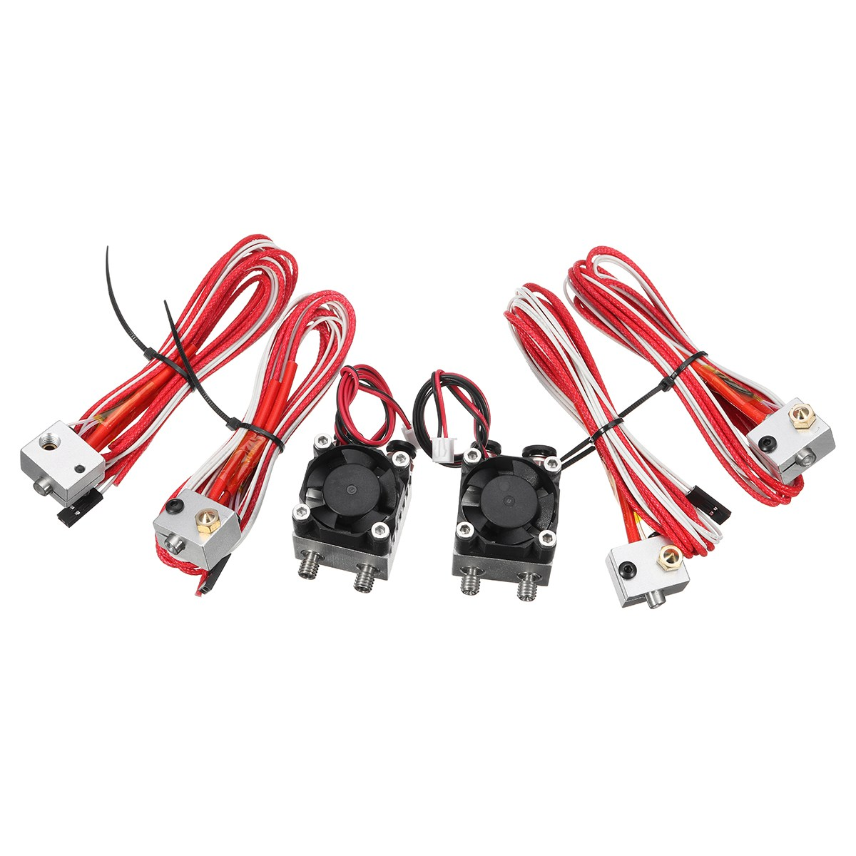 3D Printer Extruder Double Nozzle Kits 1.75mm 3.0mm Multi-Extrusion mm Dual Head Print 3D Printer Extruder