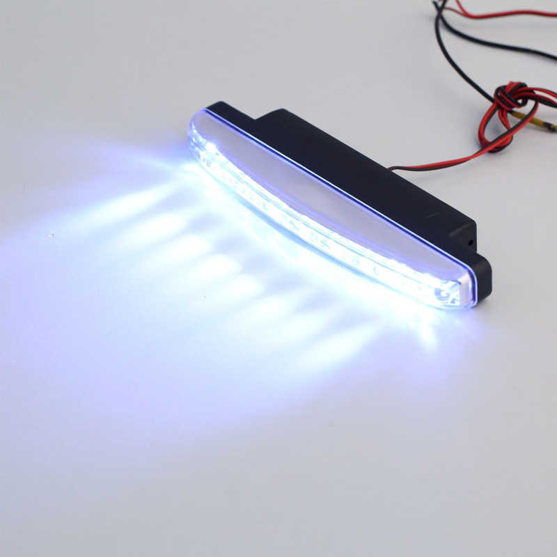 Car Running Light 1pcs 8 LED Car Running Lights Car-styling Daylight Bulb Head Waterproof Lamp White DC 12V