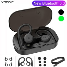 XGODY BE1018 TWS New Bluetooth 5.0 Earphone Noise Cancelling Bass Sports Wileless Bluetoot