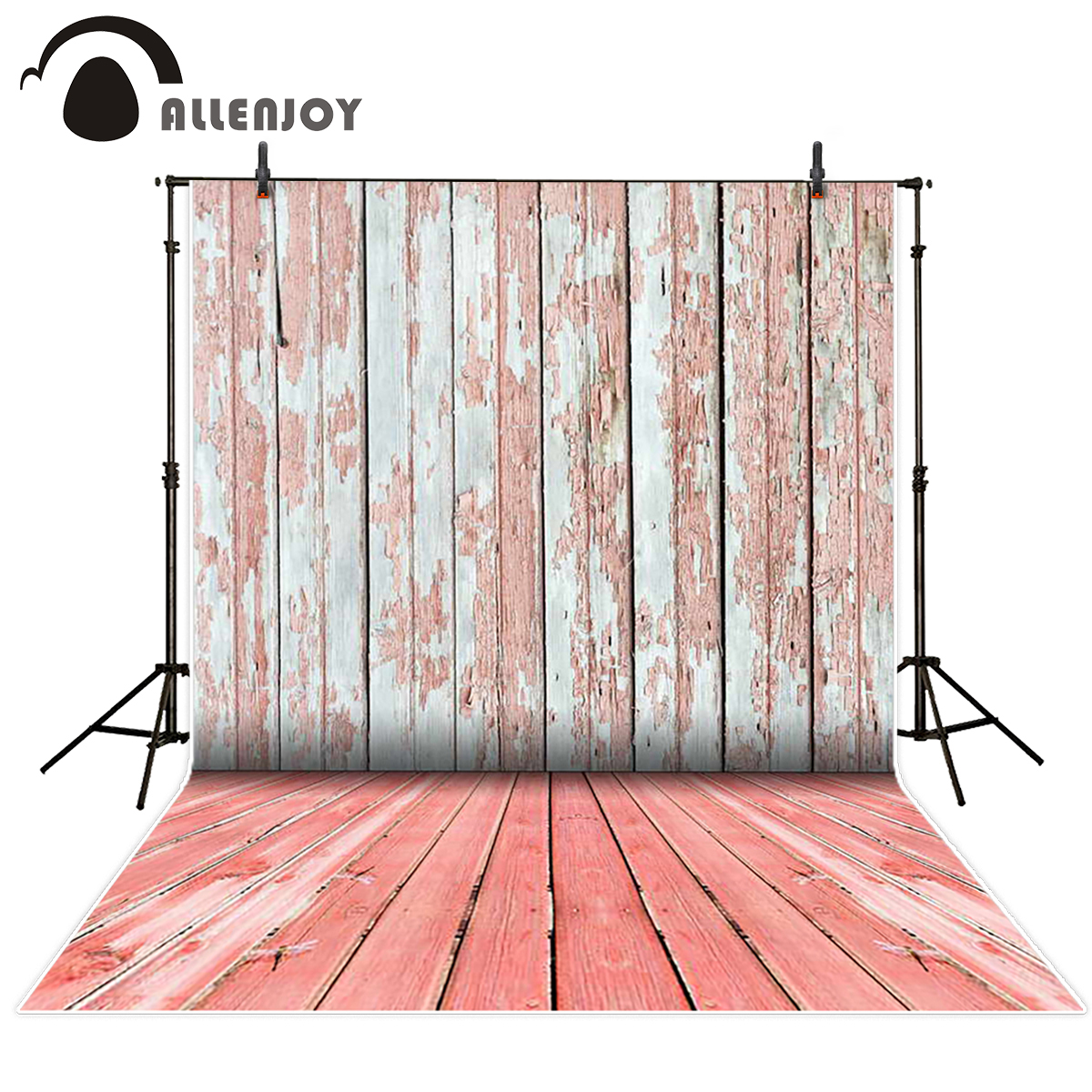 Background Photo Studio Allenjoy Professional Photography Background Clothes Hanger Jewelry Cabinet Pink Curtain Retro Table Lamp Backdrop Photobooth