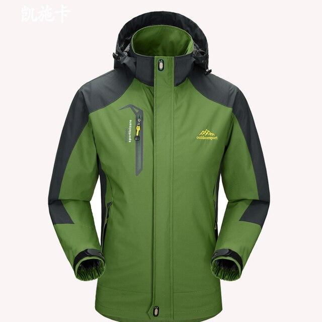 b2484061de8 Spring and Summer Mens Windbreaker Jacket Green Waterproof Hooded Coat Men  Casual Zipper Military Jackets Plus Size M-4XL