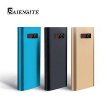 Saiensite Portable 20000 mAh Power Bank Metal Mobile Charger 3 USB External Battery for Iphone Samsung Xiaomi Fast Shipping