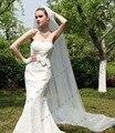 2015 Frete Grátis Véu De Noiva Véus de Noiva Marfim/branco Casamento 3 Metros Véu Catedral Véus de Noiva Tulle bridal
