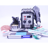 220V 110V 700W 2 In 1 SMD Rework Soldering Station Hot Air Gun Solder Iron For