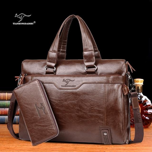 Men's shoulder messenger bag Men Business Briefcase bag for laptop computer man's bag handbag briefcase male messenger bags 1