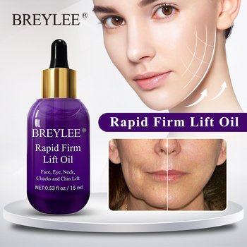 BREYLEE Essential Oils Rapid Firming Lifting Face Essence Oil Massage Anti Wrinkle Anti Aging Powerful V
