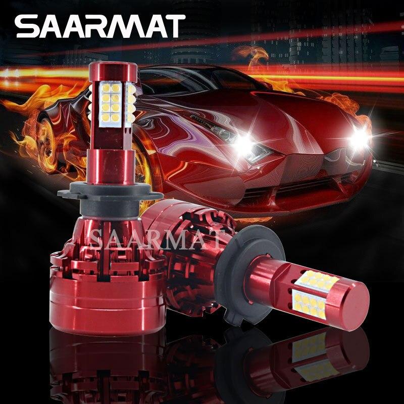Pair LED Car Front Headlight 160W w/ Sharp Chips 32-SMD Fog Light DRL H4 9003 H7 H8 H9 H11 H16(JP) 9005 HB3 H10 9006 HB4 9008