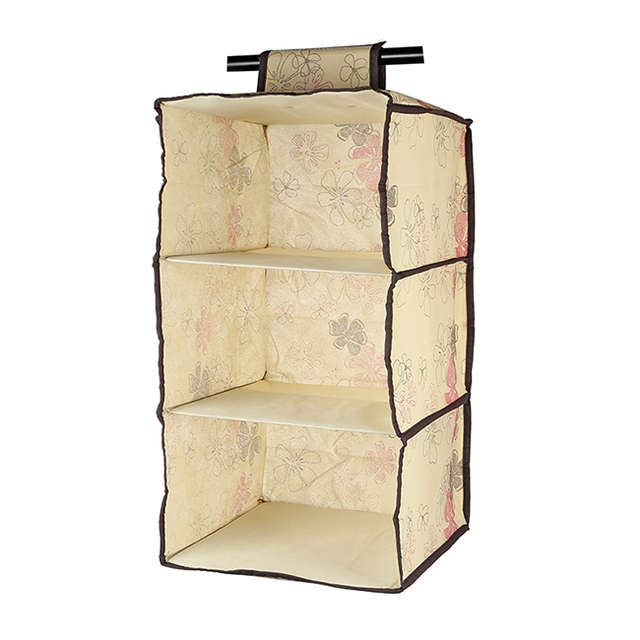Lagute 3 Shelf Hanging Wardrobe Storage Clothing Shelves Closet