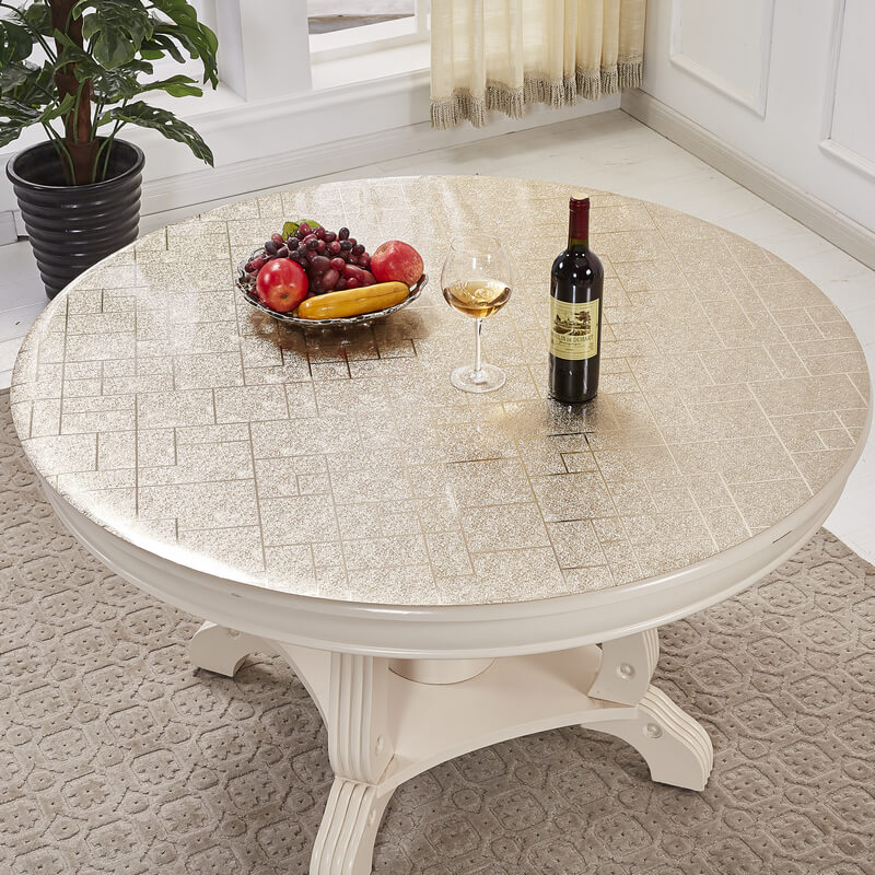 European Pvc Soft Glass Round Tablecloths Waterproof And